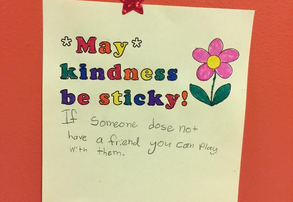 kindness sticky note