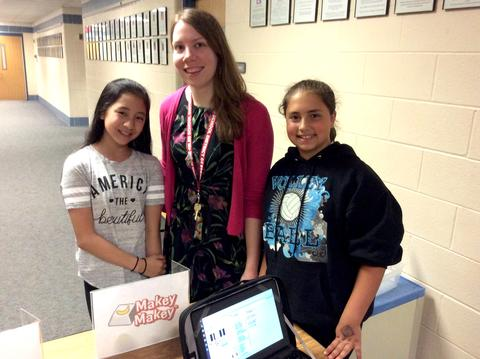 Instructional Technology coach with students