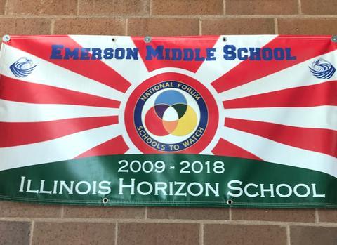 Emerson Horizon school sign