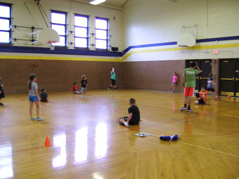 students in a gym