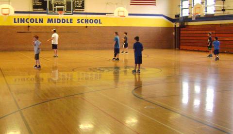 boys in gym