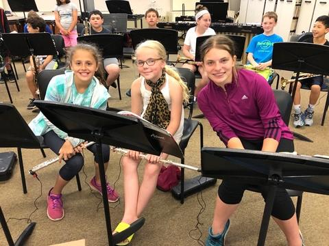 three flutists