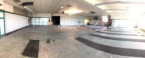 Wide view of new classroom