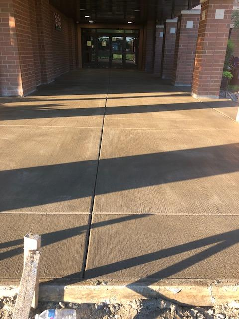 New sidewalk at Entry
