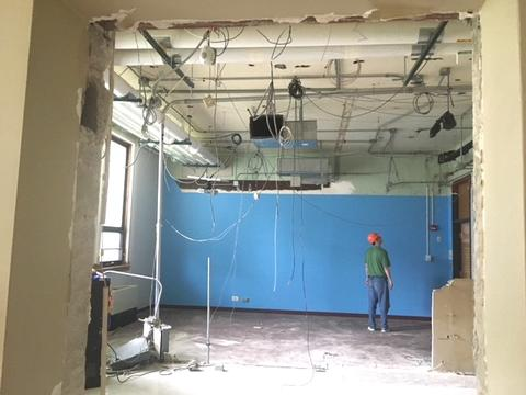 Ceiling and wall demo