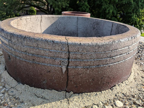 crack in roof chimney