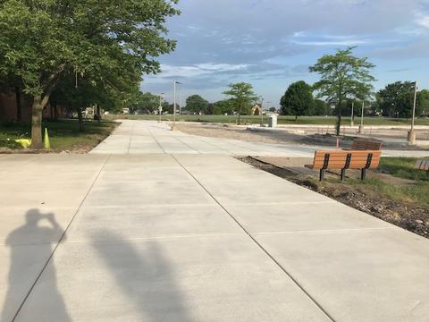 new cement walkway