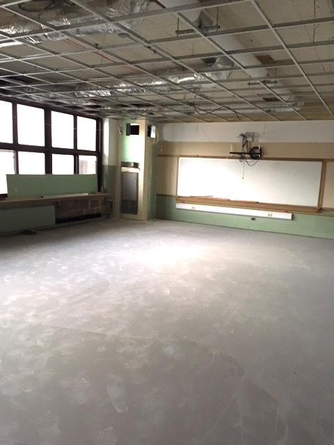 white board and windows