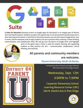 G Suite for Education seminar for parents