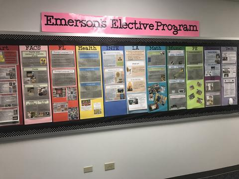 Bulletin board of emerson elective program