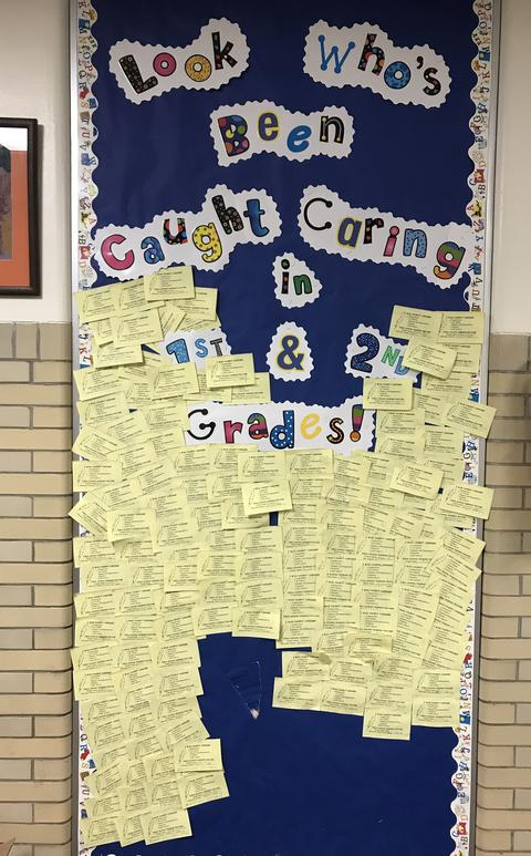 Caring bulletin board