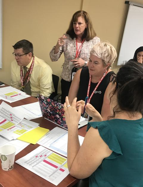 Dr. Lopez working with ITCs