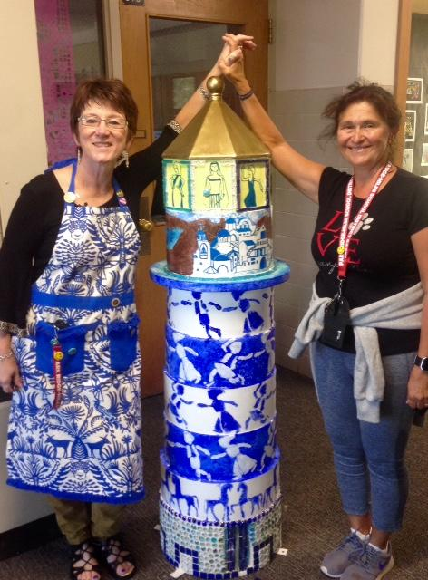 Teachers celebrating the Lighthouse