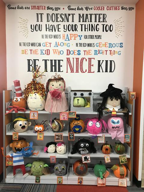Bulletin board about being the nice kid