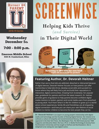 "Poster for ""Screenwise: Helping Kids Thrive and Survive in their Digital World"""