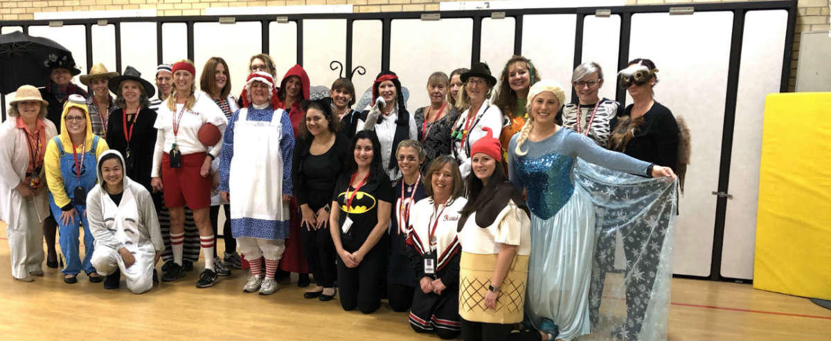 Jefferson staff on Halloween