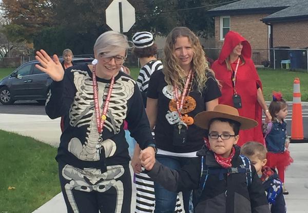 Preschool and Kindergarten Students Dress Up for Halloween