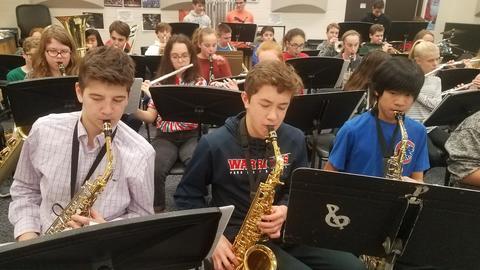 8th grade saxophone players