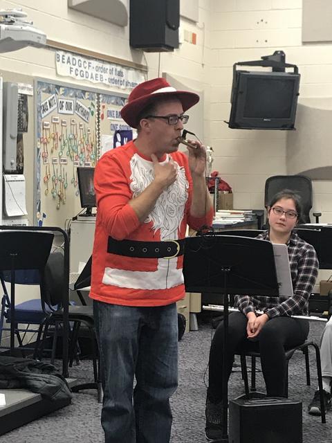 Mr Bachmann teachers the kazoo