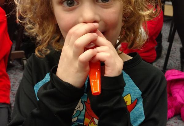 Playing the kazoo!