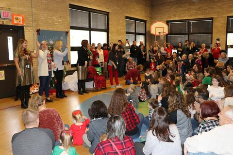 Jefferson teachers lead the singing