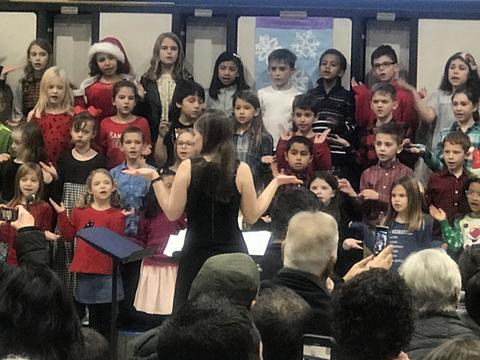 students at holiday sing