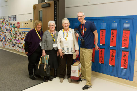 Principal with retired teachers