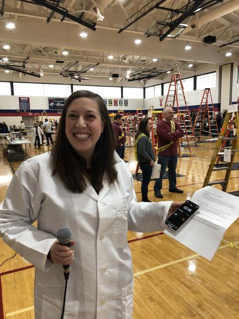 Assistant Principal Donnelly at Egg Drop