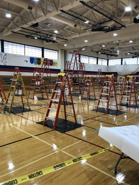 Ladders for egg drop