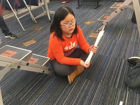 student at structures event