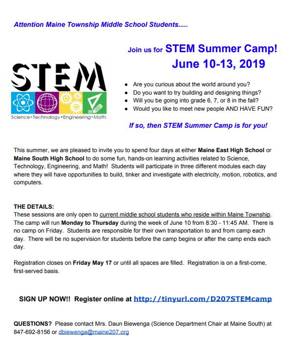 Maine Township STEM Flyer