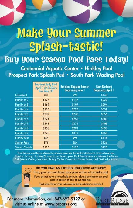 park district pool pass flyer