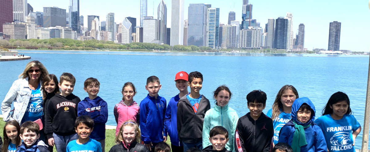 Students on Chicago lake front