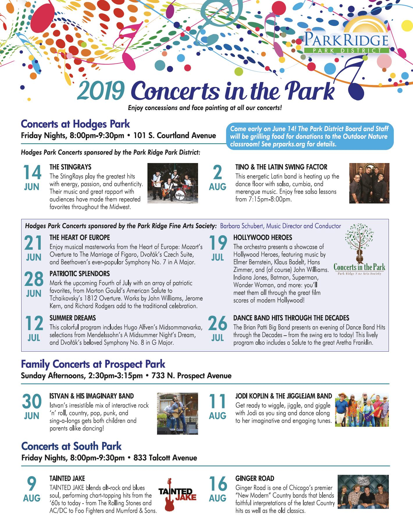 park district concerts