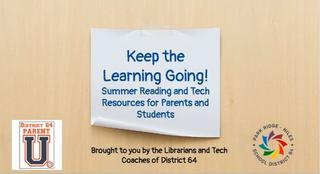 Easy summer reading and tech resources for all grades K-8