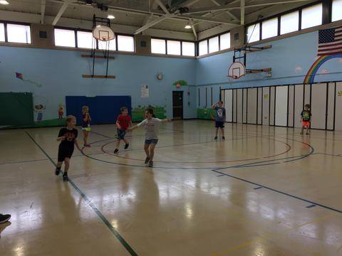 students in gym
