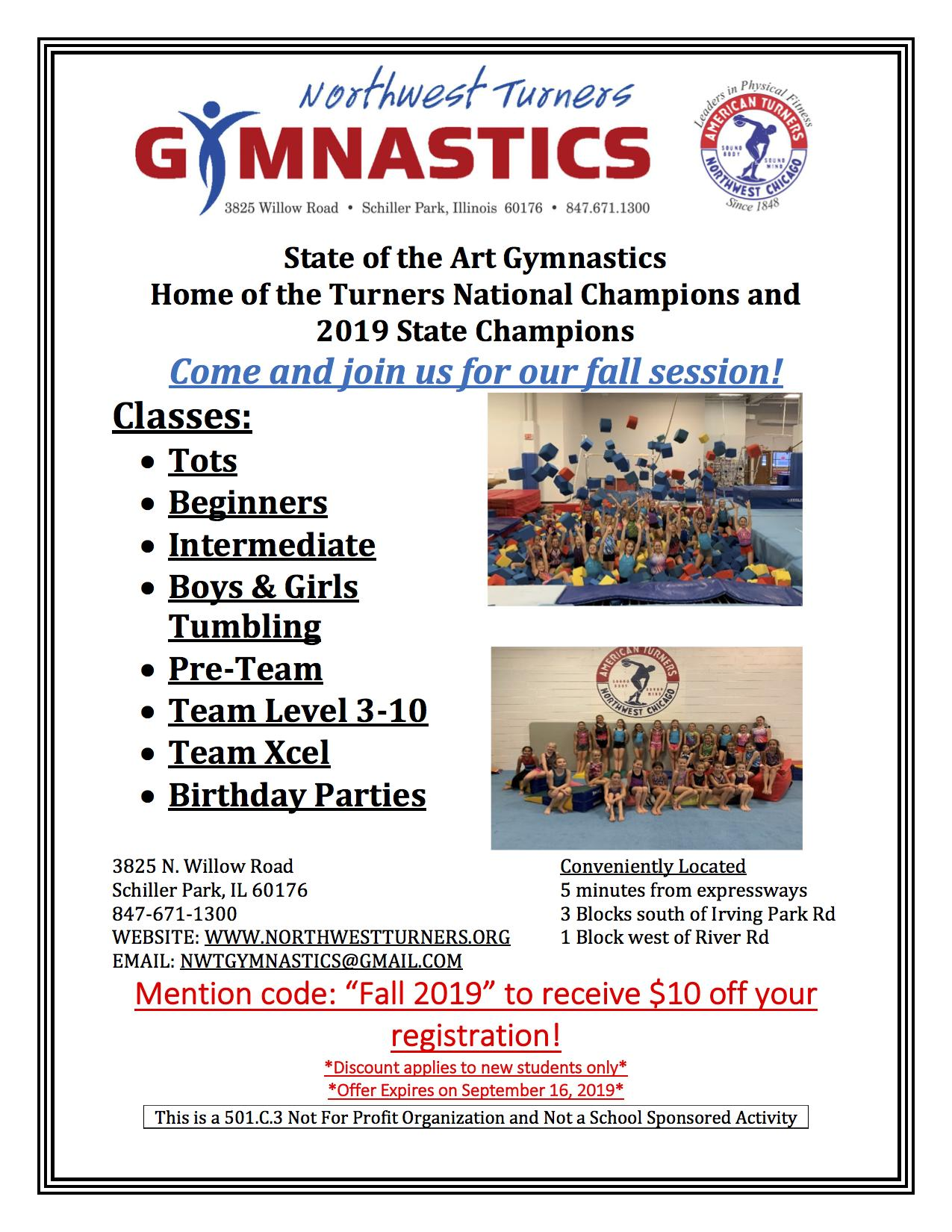 Northwest Turners Gymnastics