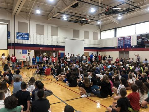 students at assembly
