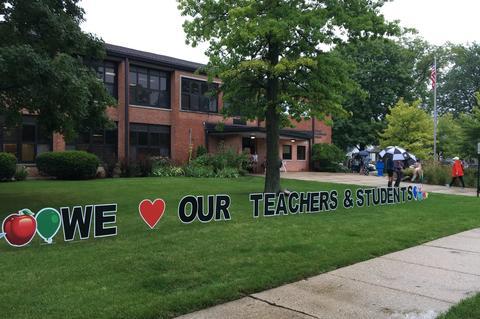 We Love Our Teachers Sign