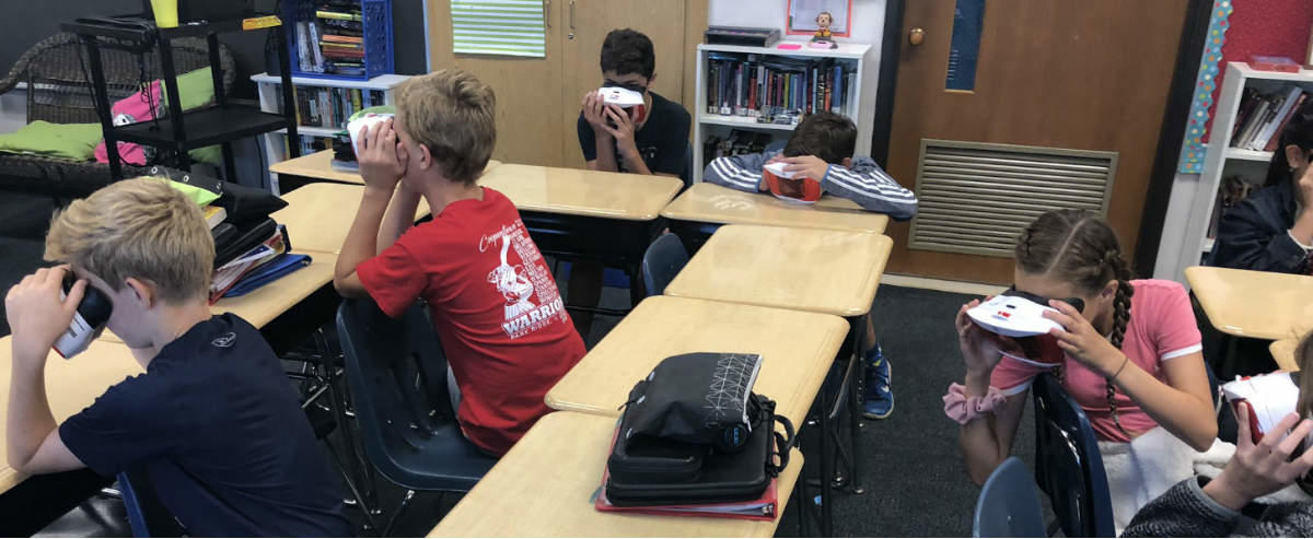 Students Learning Through Virtual Reality