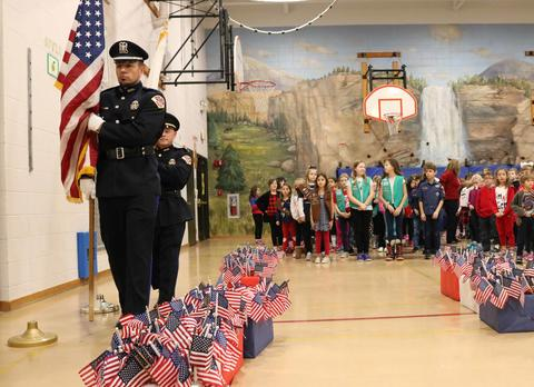 Franklin School Veterans Day ceremony