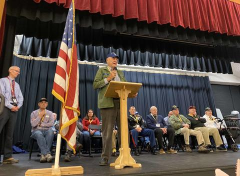 Roosevelt School Veterans Day ceremony