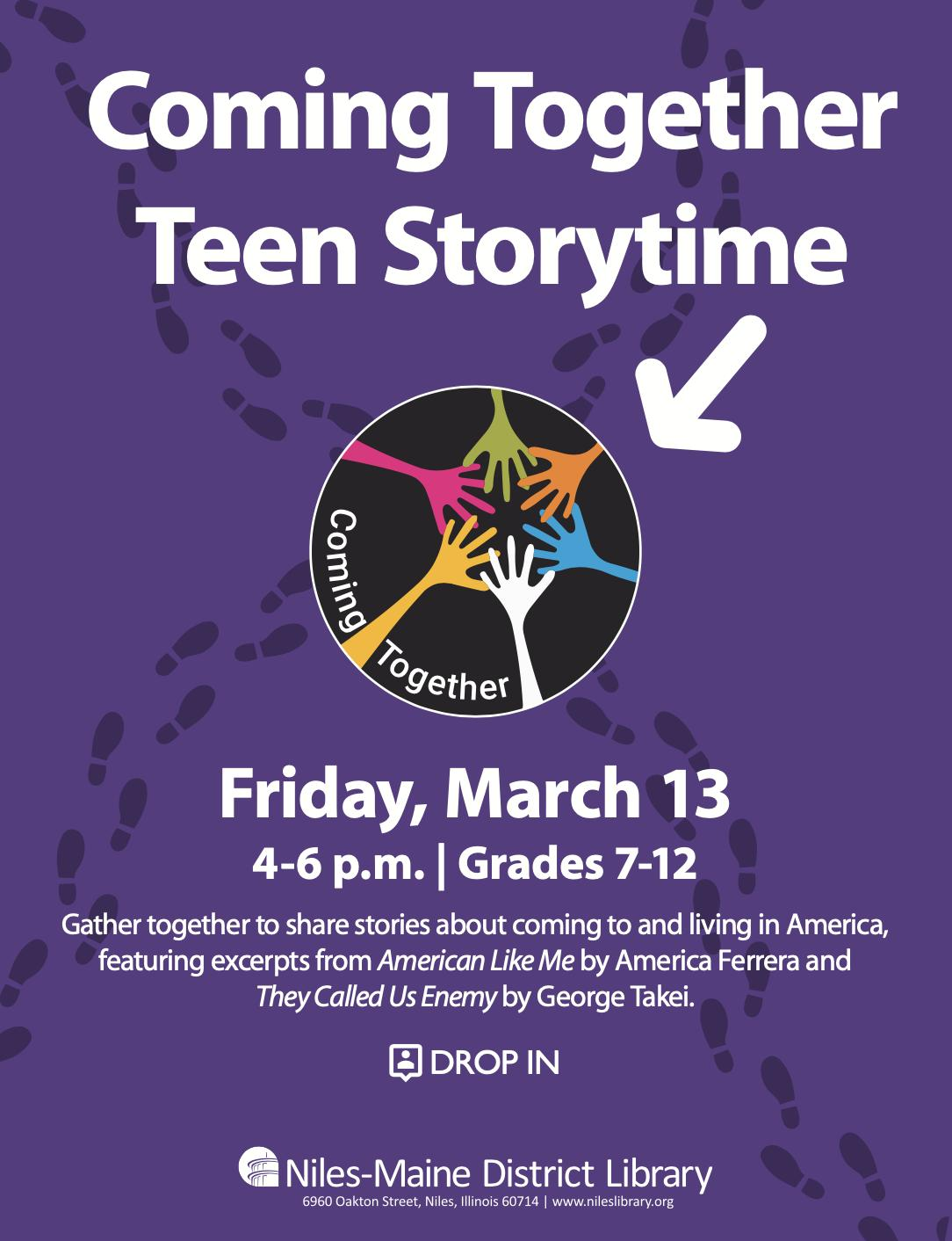 Coming Together Teen Storytime at Niles-Maine District Library