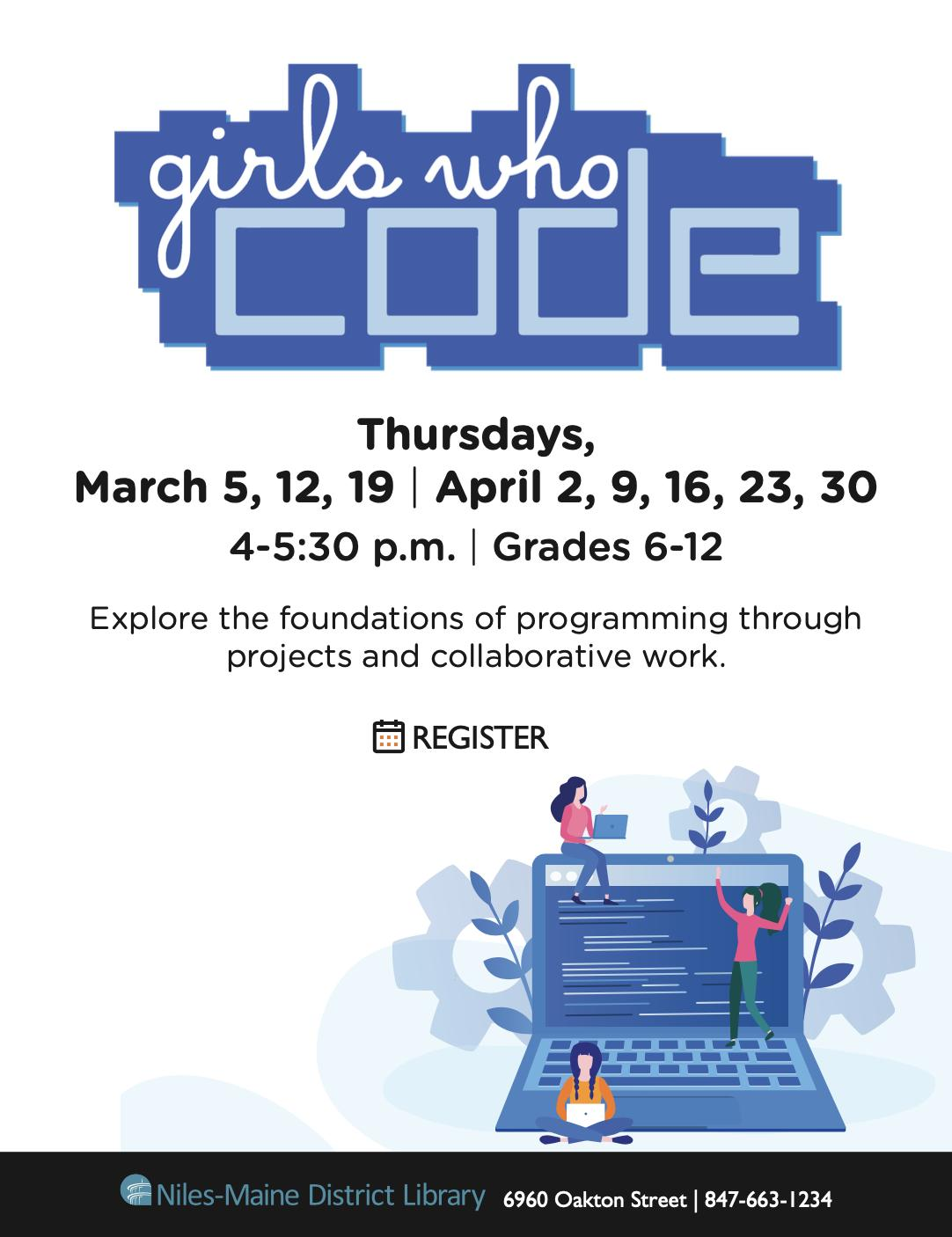 Girls Who Code at Niles-Maine District Library
