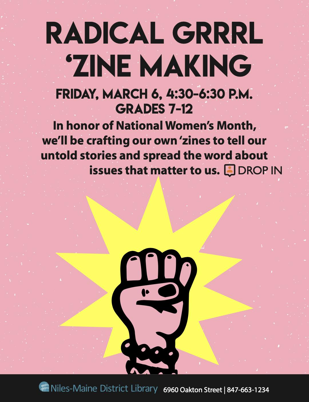 Radical Girl Zine Making at Niles-Maine District Library