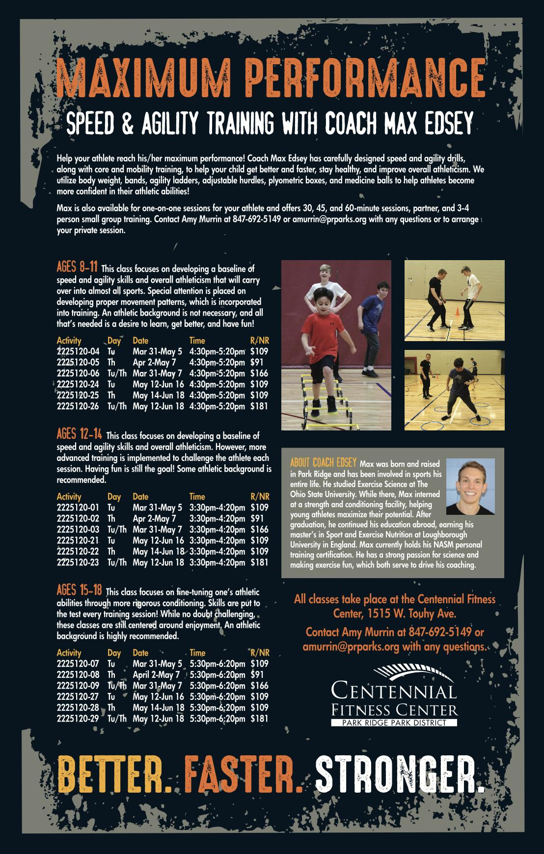 Max Performance Speed and Agility Training