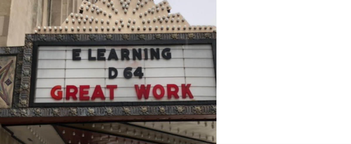 Pickwick Theatre sign dedicated to D64 e-learning
