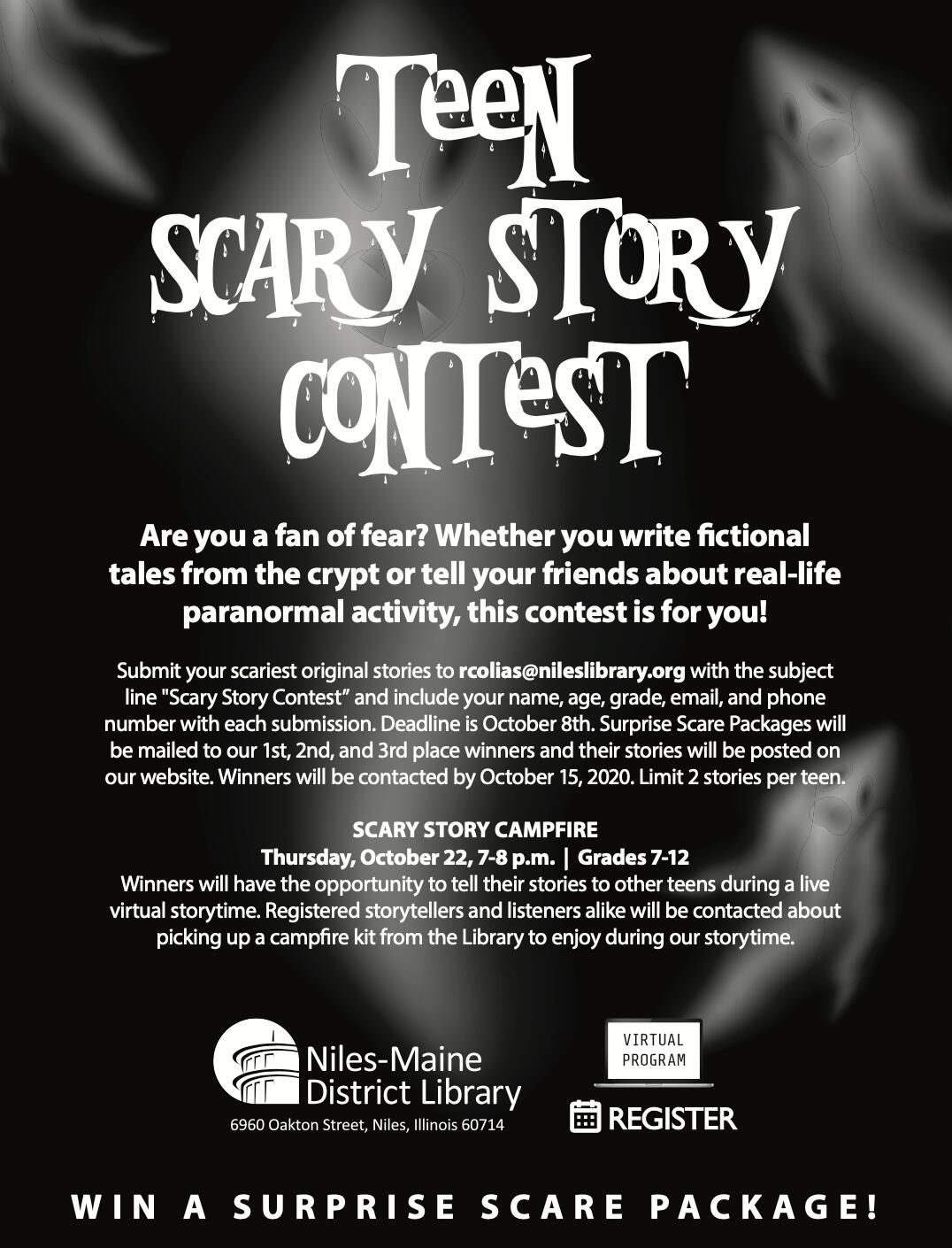 Teen Scary Story Contest at Niles-Maine District Library