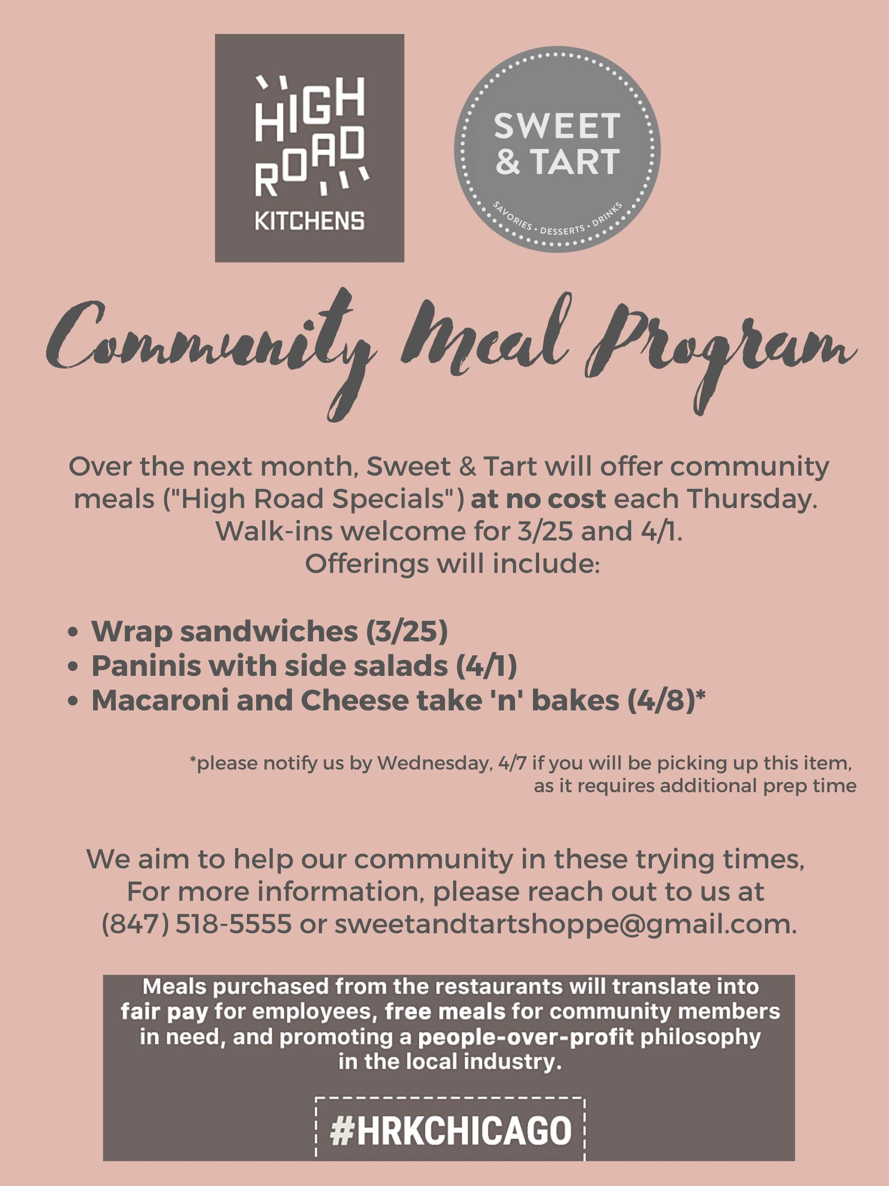 Community Meal Program