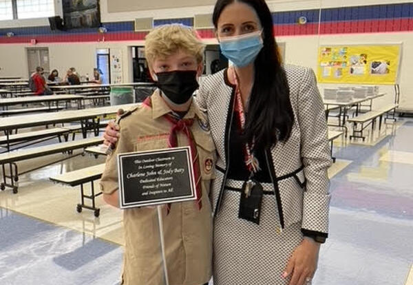 Henry with Dr. Alaimo
